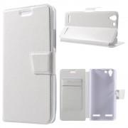 LENOVO K5 cover etui med kort lommer hvid Leveso Mobil tilbehør