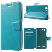 LENOVO K5 cover etui med kort lommer blå Leveso Mobil tilbehør