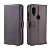 brun Flip etui ægte læder Motorola One Vision Mobil tilbehør