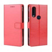 rød Igo flip etui Motorola One Action Mobil tilbehør