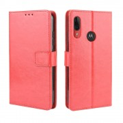 rød Igo flip etui Motorola E6 Plus Mobil tilbehør