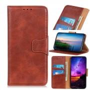 brun Elegant læder etui Motorola G8 Plus Mobil tilbehør
