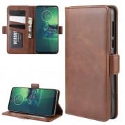 mørkebrun Vilo flip etui Motorola G8 Plus Mobil tilbehør