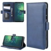 blå Vilo flip etui Motorola G8 Plus Mobil tilbehør