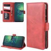 rød Vilo flip etui Motorola G8 Plus Mobil tilbehør