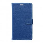 Til Lenovo C2 etui i ægte læder blå Mobiltelefon tilbehør