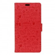 Lenovo K6 rød cover etui cartoon Lenovo K6 Mobil tilbehør