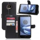 Motorola Moto Z play pung med lommer sort Mobiltelefon tilbehør