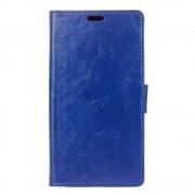 Til Lenovo K6 Note blå cover pung med lommer Leveso.dk  Mobil tilbehør