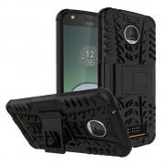 til Motorola Moto Z play bagcover hybrid sort Mobiltelefon tilbehør