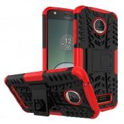 til Motorola Moto Z play rød bagcover hybrid Mobiltelefon tilbehør