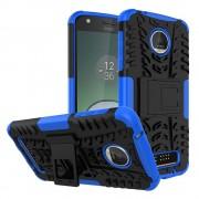 Til Motorola Moto Z play bagcover hybrid blå Leveso.dk
