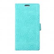 Til Lenovo K6 cyan cover i alligator mønstret læder Mobiltelefon tilbehør