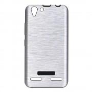 Lenovo K5 sølv cover brushed metal Mobiltelefon tilbehør