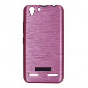Til Lenovo K5 cover rosa brushed metal Mobiltelefon tilbehør