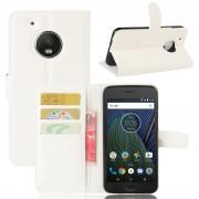 Klassisk flip cover hvid til Motorola Moto G5 plus, Mobil tilbehør