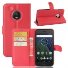 Klassisk flip cover i rød til Motorola Moto G5 plus, Mobil tilbehør