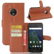 Klassisk flip cover brun til Motorola Moto G5 plus, Mobil tilbehør