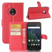Motorola Moto G5 rød pung flip cover, Motorola Moto g5 covers
