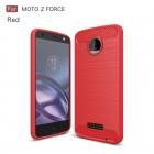 Motorola Moto Z force cover armor carbon rød Mobilcover