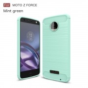 Motorola Moto Z force cover armor carbon cyan Mobilcover