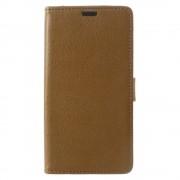 Motorola Moto C flip cover med kort lommer brun, Mobil tilbehør