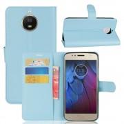 Motorola Moto G5S flip cover med lommer blå Mobilcovers