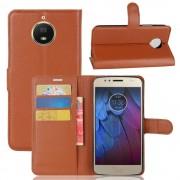 Motorola Moto G5S brun flip cover med lommer Mobilcovers