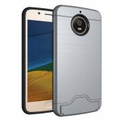 Motorola Moto G5S cover armor kortholder grå Mobilcovers