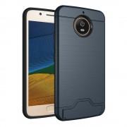 Motorola Moto G5S cover armor kortholder mørkeblå Mobilcovers