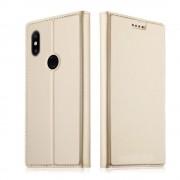 Xiaomi Mi Mix 2S slim flip cover guld Mobil tilbehør