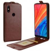 Xiaomi Mi Mix 2S vertikal flip cover brun Mobil tilbehør