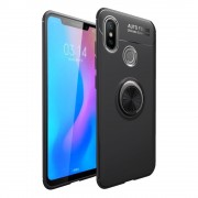 Cover med ring holder sort Xiaomi Mi 8 Mobil tilbehør
