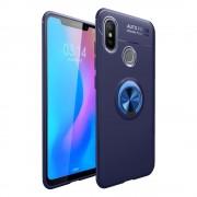 Cover med ring holder blå Xiaomi Mi 8 Mobil tilbehør
