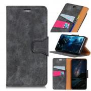 Vintage læder cover grå Xiaomi Mi 8 Mobil tilbehør