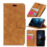 Vintage læder cover brun Xiaomi Mi 8 Mobil tilbehør