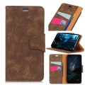Vintage læder cover Xiaomi Mi 8 mørkebrun