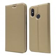 Slim flip cover guld Xiaomi Mi 8 Mobil tilbehør