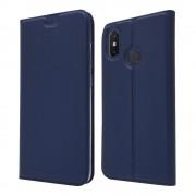 Slim flip cover blå Xiaomi Mi 8 Mobil tilbehør