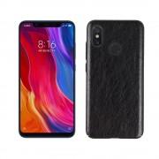 Stilfuld læder case sort Xiaomi Mi 8 Mobil tilbehør