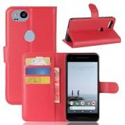 Vilo flip cover rød Google pixel 2 Mobil tilbehør