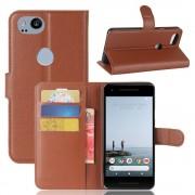 Vilo flip cover brun Google pixel 2 Mobil tilbehør