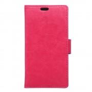 MOTOROLA MOTO X PLAY læder pung cover, rosa Mobiltelefon tilbehør