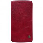 MOTOROLA MOTO X PLAY læder cover i business stil, rød Mobiltelefon tilbehør