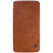 MOTOROLA MOTO X PLAY læder cover i business stil, brun Mobiltelefon tilbehør