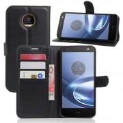 Motorola Moto Z cover pung sort Mobiltelefon tilbehør