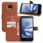 Motorola Moto Z cover pung brun Mobiltelefon tilbehør