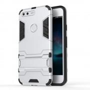 Til Google Pixel bagcover hybrid sølv Mobiltelefon tilbehør