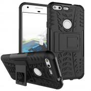 til Google Pixel cover hybrid cool sort Mobiltelefon tilbehør
