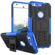 Til Google Pixel blå cover hybrid cool Mobiltelefon tilbehør